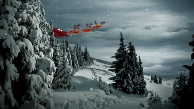christmas santa claus scene - 20 seconds or greater stock videos & royalty-free footage