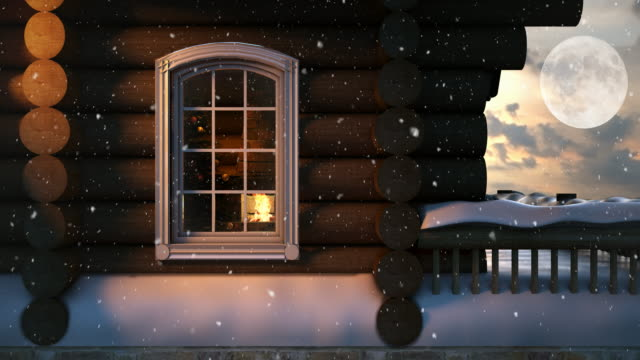 christmas scene behind the window  4k | loopable - winter holiday stock videos and b-roll footage
