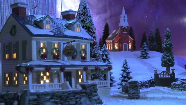 Weihnachten-Szene-Country Inn & Kirche#4