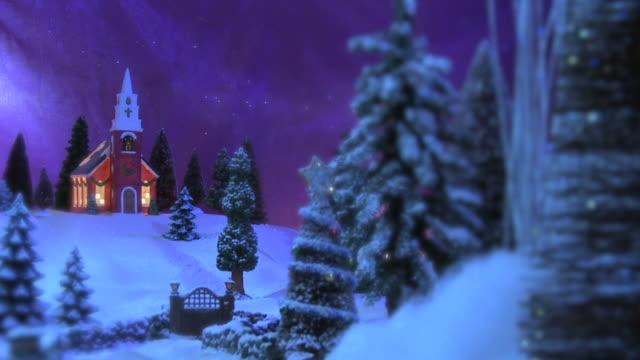 Weihnachten-Szene-Country Inn & Kirche#5