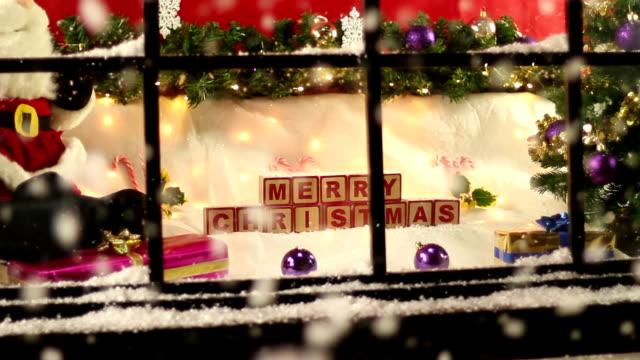 christmas shop window close up - Candy Cane Christmas Shop