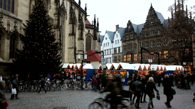 christmas shopping in münster, germany - advent stock videos & royalty-free footage