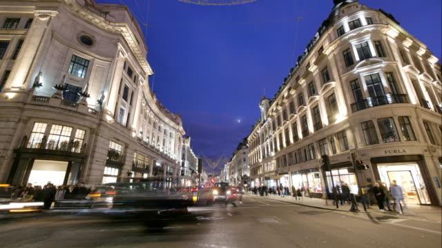 4 k weihnachten & shopping in der oxford street, london - förderleitung stock-videos und b-roll-filmmaterial
