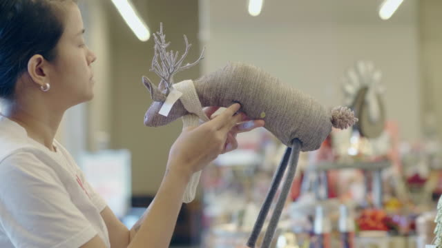 christmas shopping - doll stock videos and b-roll footage