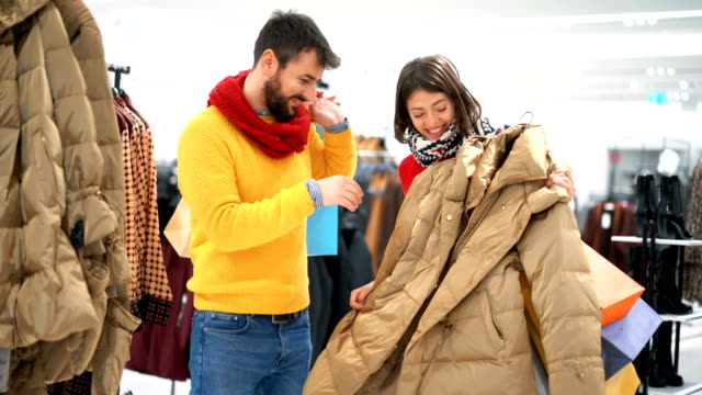 christmas shopping. - winter coat stock videos & royalty-free footage