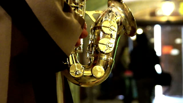 hd: christmas shopping - saxophone stock videos and b-roll footage