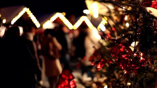 christmas shopping - christmas tree stock videos and b-roll footage