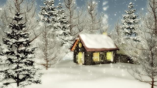 vídeos de stock, filmes e b-roll de natal neve caindo (arco - pólo norte