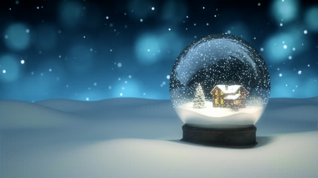 christmas snow globe - 4k | loopable - getting away from it all stock videos & royalty-free footage