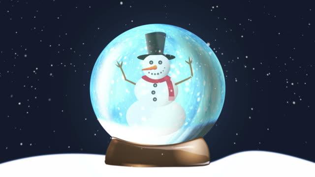 Christmas Snow Globe Snowman
