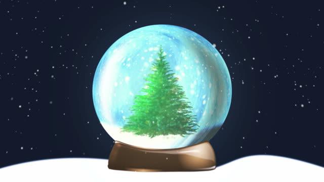 Christmas Snow Globe Tree