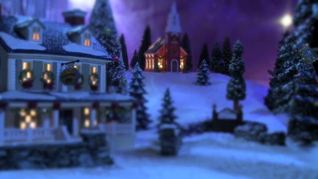 Weihnachten Schnee-Szene-Country Inn & Kirche#2