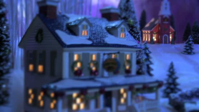 Weihnachten Schnee-Szene-Country Inn & Kirche#3