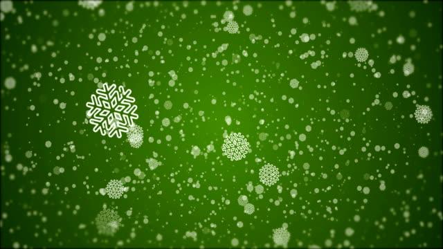 vidéos et rushes de 4k christmas - animation flocon de neige, fond vert - carte de noël