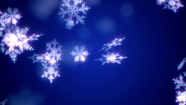 christmas snowflake background blue loop - tripping falling stock videos and b-roll footage