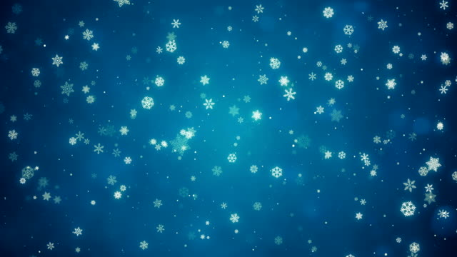 vídeos de stock e filmes b-roll de christmas snowflake background | loopable - plano de fundo