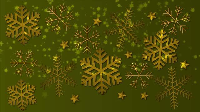 vidéos et rushes de flocon de neige de noël 4k. joyeux noël et joyeux concept de nouvel an. - soldes