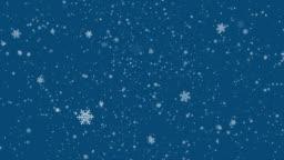 Christmas snowflakes animation