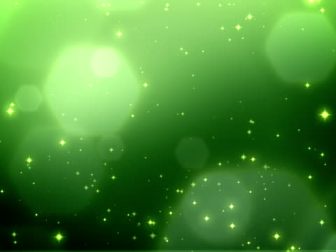 Christmas sparkles green background - loopable, NTSC