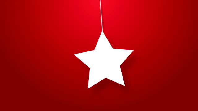 christmas star icon hanging on a wire - string stock videos & royalty-free footage