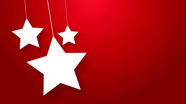 weihnachten, sterne hängen auf einem draht symbol - schnur stock-videos und b-roll-filmmaterial