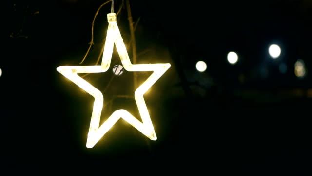 Christmas Star on Tree, Neon, Christmas, Christmas Ornaments