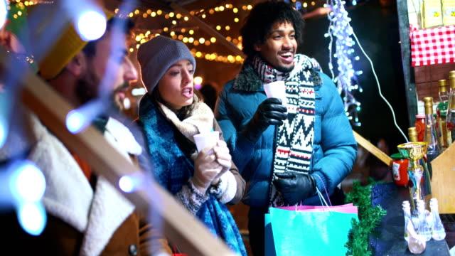 christmas street shopping. - calendar date stock videos & royalty-free footage