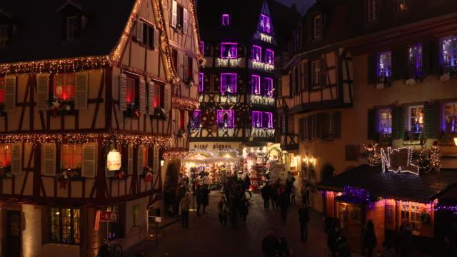juletid i colmar, alsace, frankrike - julglitter bildbanksvideor och videomaterial från bakom kulisserna