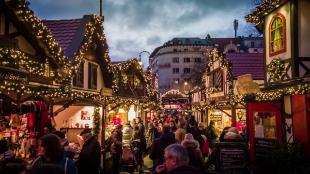 christmas time in europe - europe stock videos & royalty-free footage