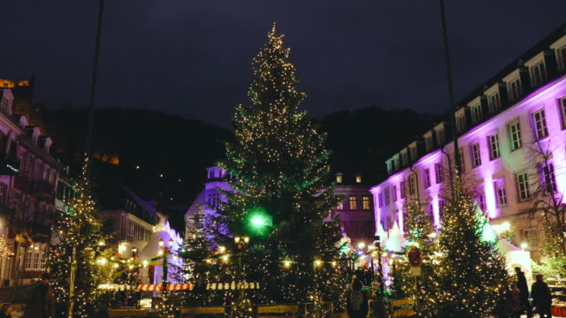 christmas time in heidelberg, germany - christmas market stock videos & royalty-free footage