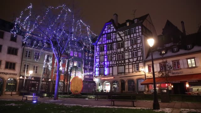 christmas time in strasbourg, france - gothic style stock videos & royalty-free footage