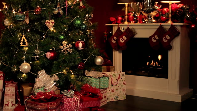 christmas time - christmas tree stock videos & royalty-free footage