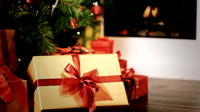 christmas time - christmas gift stock videos & royalty-free footage