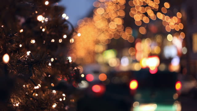 christmas traffic in the city - christmas shopping stock videos and b-roll footage
