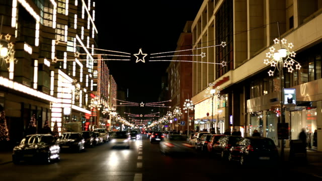 christmas traffic in the city - advent stock videos & royalty-free footage