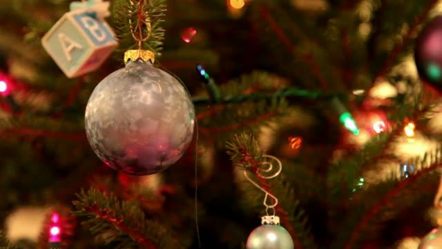christmas tree 2 - hd 30p - christmas tree stock videos and b-roll footage