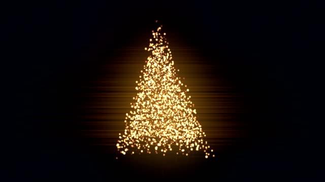stockvideo's en b-roll-footage met kerstboom abstracte animatie achtergrond lus - loop elementen