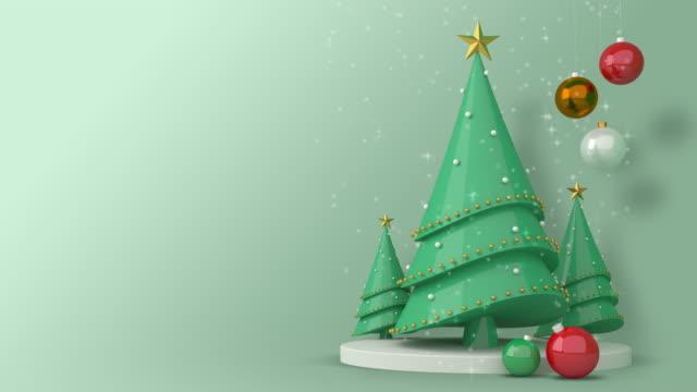 크리스마스 트리 3d 렌더링