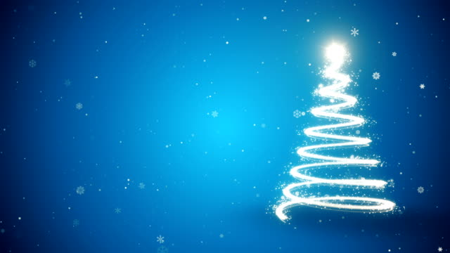 vídeos de stock, filmes e b-roll de árvore de natal - fundo animado - luz de natal