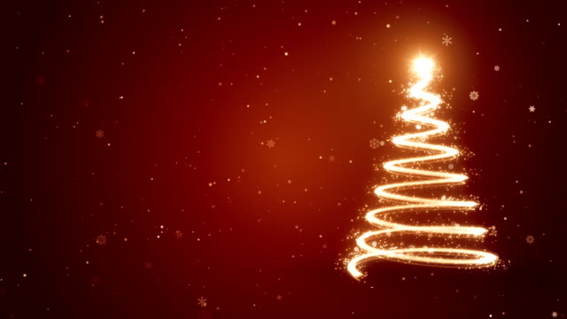 christmas tree - animated background - christmas bauble stock videos & royalty-free footage