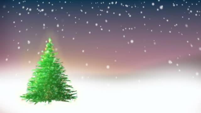 weihnachtsbaum hintergrund-loop - links platz stock-videos und b-roll-filmmaterial