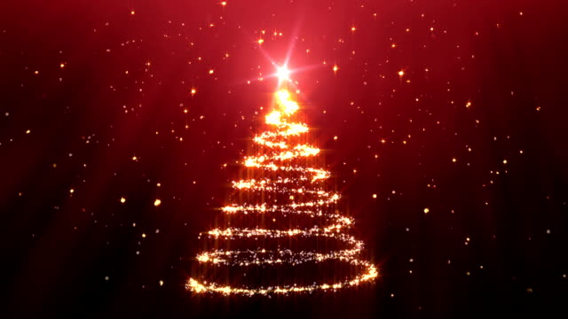 christmas tree background red - christmas tree stock videos & royalty-free footage