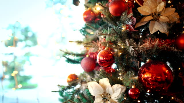 christmas tree background. - christmas tree stock videos & royalty-free footage