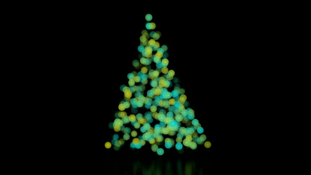 Christmas tree background with lights loop