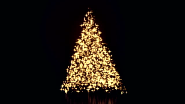 christmas tree background with lights loop - christmas lights stock videos & royalty-free footage