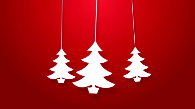 christmas tree bouncing on a string animation. - string stock videos & royalty-free footage