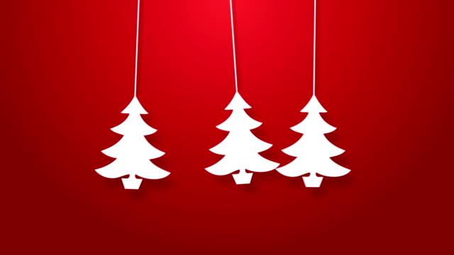 Árvore de Natal Saltar sobre uma corda de animação.