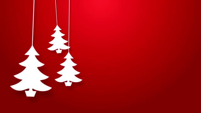 Weihnachtsbaum hüpfen auf einer Schnur animation.