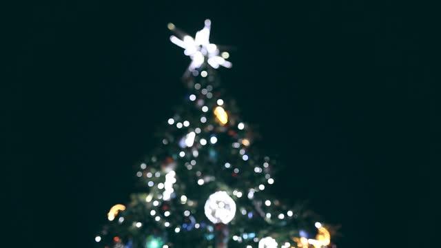weihnachtsbaum, weihnachtsdekoration, krakau in polen - heiliger stock-videos und b-roll-filmmaterial