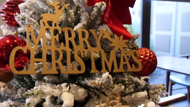christmas tree decorations / south korea - decoration stock videos & royalty-free footage